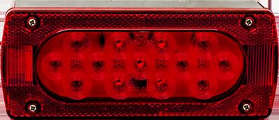 Rectangular Red Led Boat Trailer Stop Tail Turn Light