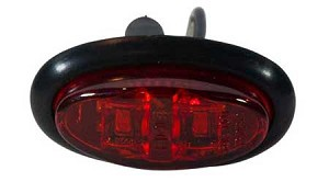 HD21002SMD - Mini Oval Clearance Marker Light - 2 LEDs