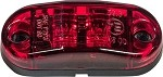 HD26002R - Oval Surface Mount Marker Light, Red - 2 LED