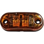 HD26002Y - Oval Surface Mount Marker Light, Amber - 2 LED