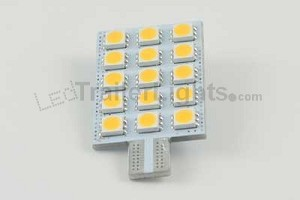 921 Flat Panel, 15 LED, 10-30vdc, Warm White
