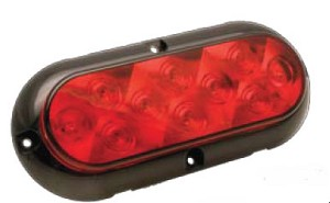 "L15-0042 - 6"" Oval wide angle LED Stop / Turn / Tail lamp SURFACE MOUNT"